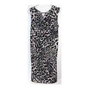 MOTHERHOOD maternity cheetah print dress